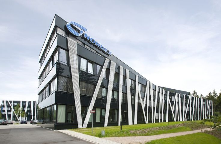 Modern office building nordex forum headquarters at for Contemporary commercial buildings