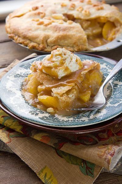 Spiced Bourbon Peach-Apple Pie | Recipe