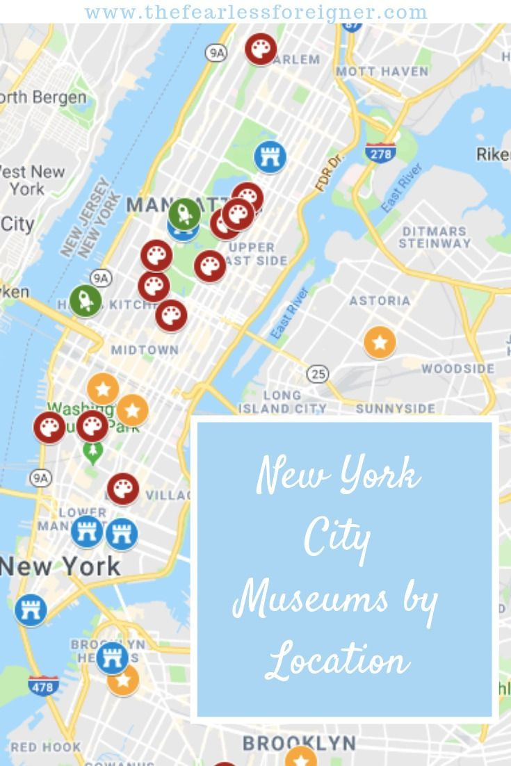 The Only New York City Museums Map List You Need To Explore The Top Museums In Nyc New York City Museums Museums In Nyc New York City