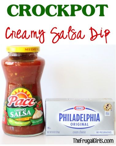 Crockpot Creamy Salsa Dip Recipe! ~ from TheFrugalGirls.com ~ the perfect delicious dip for your next Party or Taco Tuesday! #slowcooker #dips #recipes #thefrugalgirls