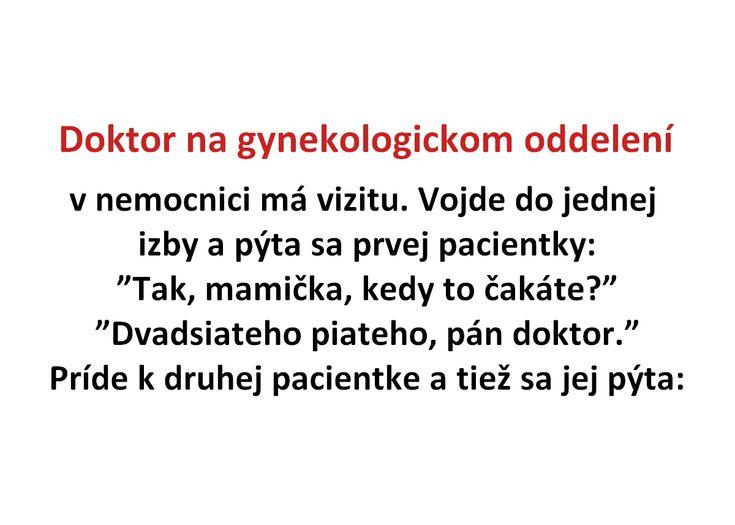 Doktor na gynekologickom oddelení - Spišiakoviny.eu