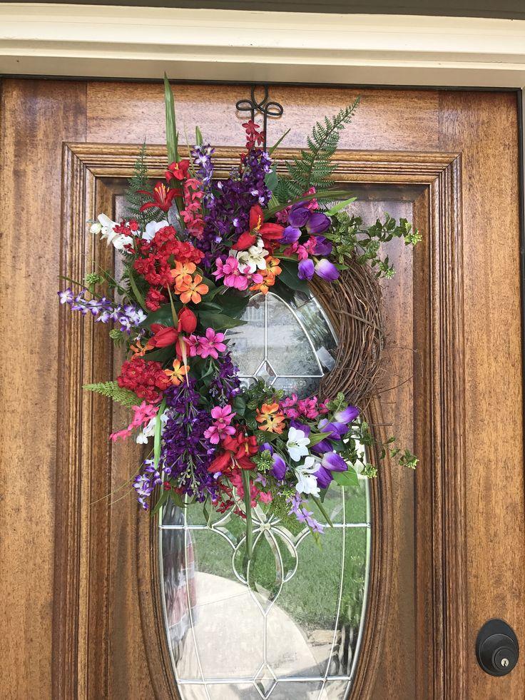 Spring Wreaths For Front Door Summer Decor