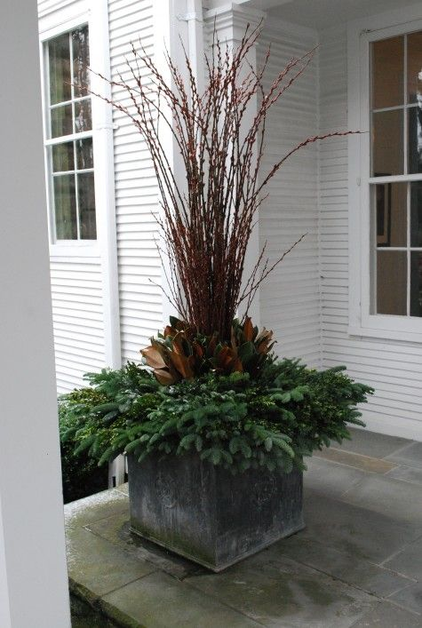 Decorating Front Porch Urns For Christmas Glamorous 8 Best Planters Porch Pots Containers Images On Pinterest Design Decoration