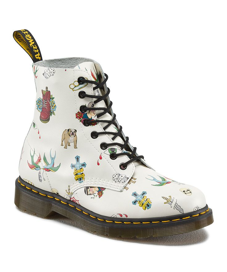 Look what I found on #zulily! Off White Pascal Leather Boot by Dr. Martens #zulilyfinds