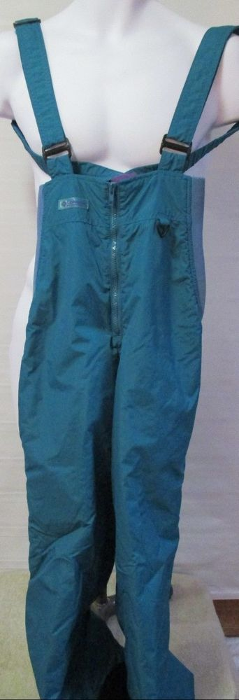 Columbia Ski Pants Bib Snow Suit Small Youth Aqua in Sporting Goods, Winter Sports, Clothing | eBay