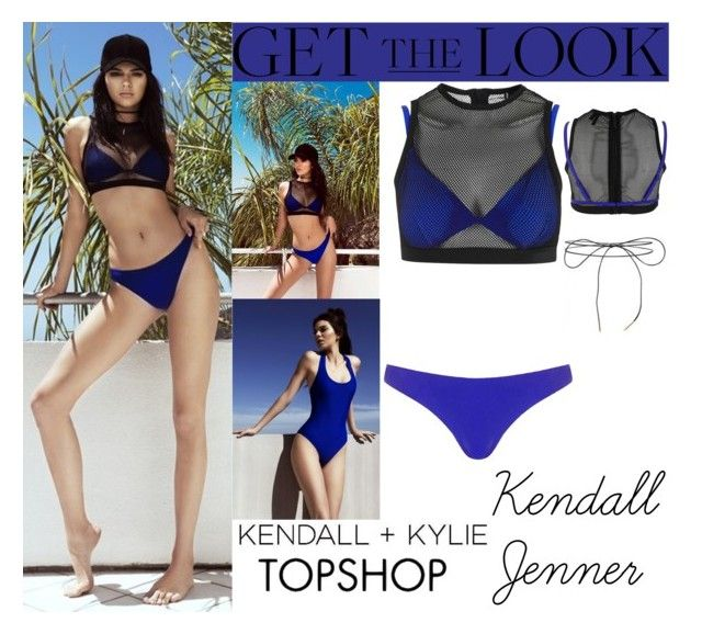 """Kendall Jenner Kendall + Kylie For Topshop Swimwear 2016 #3"" by valenlss ❤ liked on Polyvore featuring Topshop and Lilou"