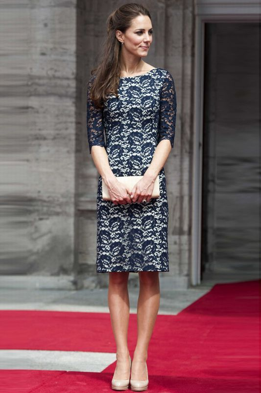 Kate Middleton! I love how she wears a lot of modest clothing. She's so sophisticated!