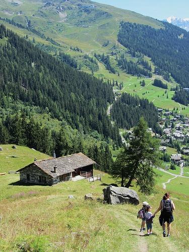 Hiking in Verbier Valais. Photo Credit: Sonja Holverson