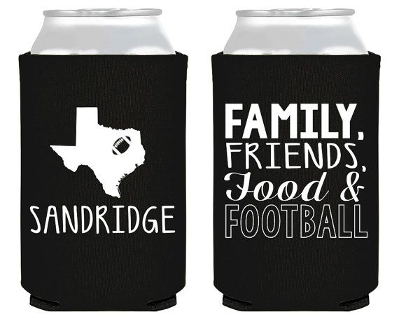 Football Party Super Bowl Party Super Bowl Football Custom Party Favor Tailgate Texas Party Any Location Family Football Party 1670 by SipHipHooray