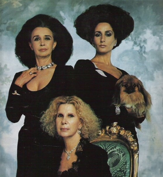 Countess of Romanones, Duchess of Feria and Duchess of Alba in the 80's. the awesomeness in this picture cannot be contained