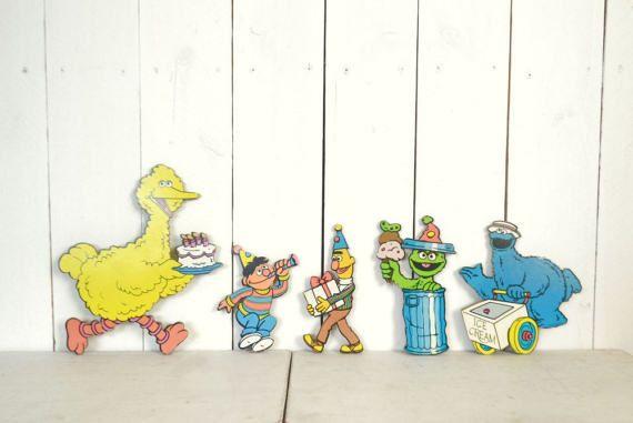 Sesame Street Wall Hangings 1980s 2D Cut by StoryTellersVintage
