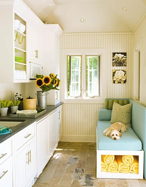 Lovely pool house kitchen#Repin By:Pinterest++ for iPad#: Kitchens, Ideas, Mudroom, Dream, Mud Rooms, House, Small Kitchen, Dog, Laundry Room