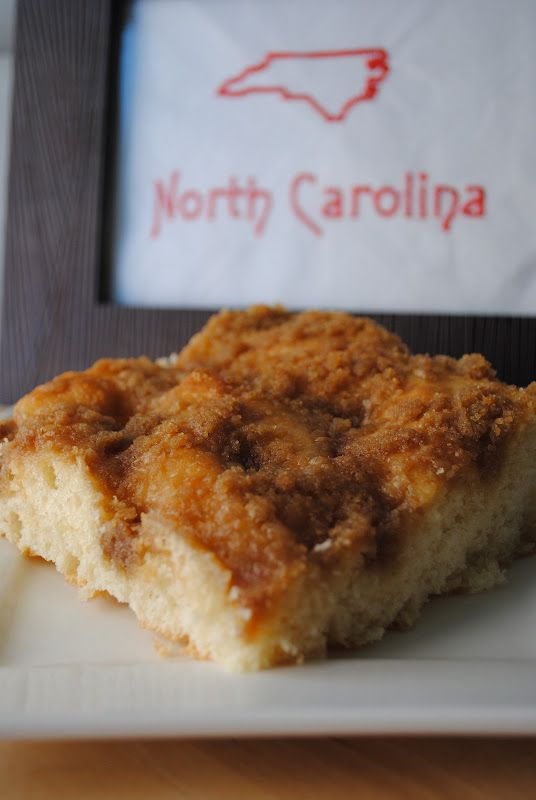 North Carolina - Moravian Sugar Cake. A family tradition every Christmas! The BEST comes from Dewey's Bakery. May have to make my own this Christmas season.