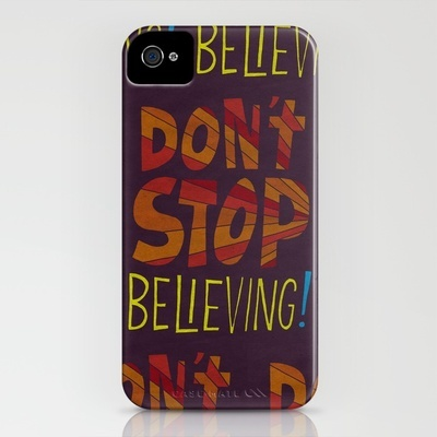 Don't Stop Believing  iPhone Case    Seriously. This could not be more me. LOL: Iphone Cases, Products Avail, Geeky Geekeri, Cases Serious, Mr. Beans, Believe Iphone