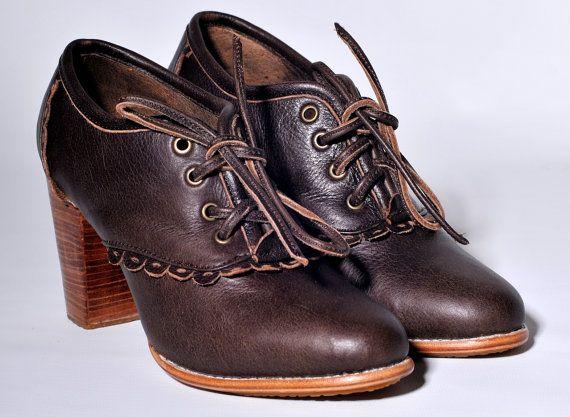 LACE. Oxford schoenen leder / lederen laarsjes / oxford door BaliELF