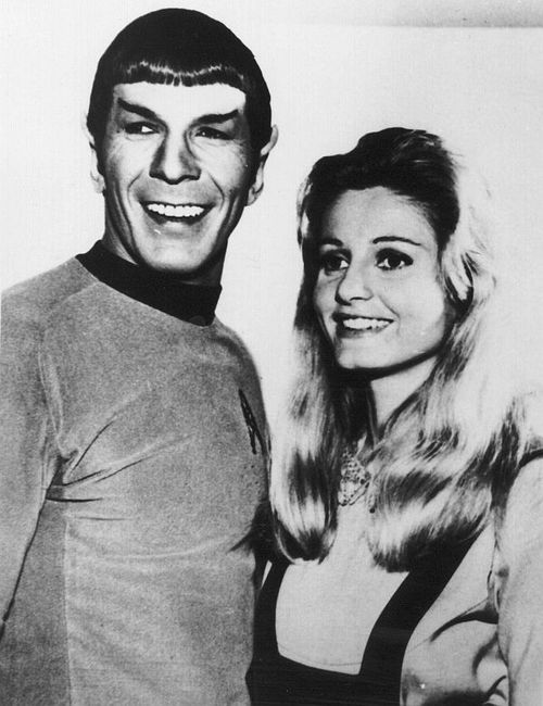 Leonard Nimoy and Jill Ireland (once wife of David McCallum, of Man from UNCLE and NCIS)