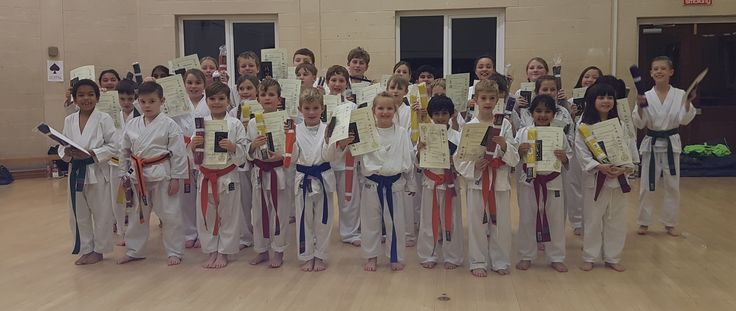 Biggleswade karate club kids grading december 2016 :)