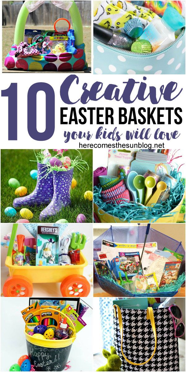 The 25 best creative easter basket ideas ideas on pinterest 10 creative easter basket ideas your kids will love negle Gallery