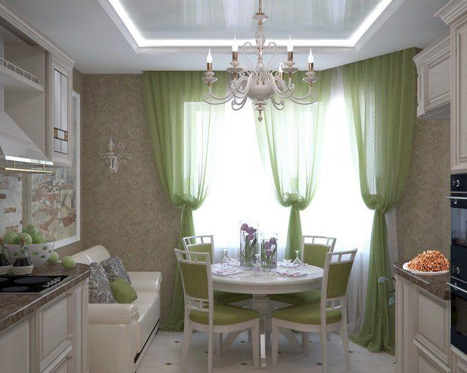 Интерьер для кухни с эркером п44т фото