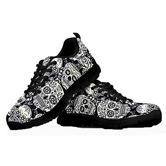 e203c30fb29be Coloranimal Lightweight Go Easy Walking Sneakers Sugar Skulls Lace ...