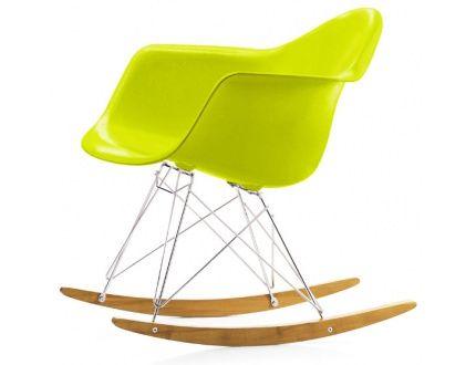 RAR Eames Plastic Rocking Armchair green by Jelanie, nursing chair