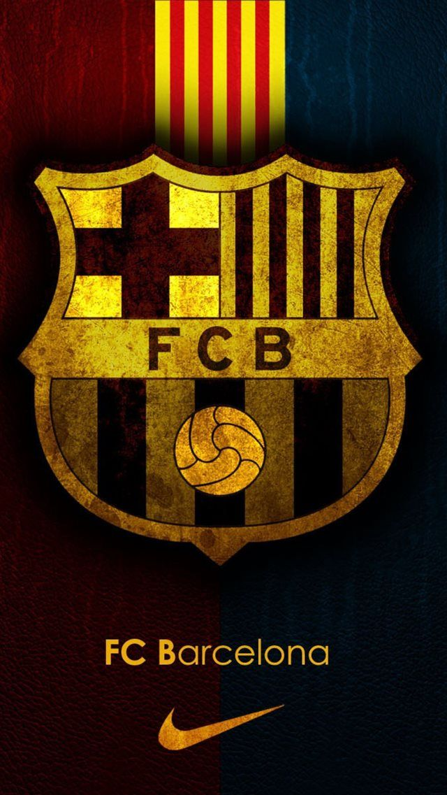FC Barcelona Team Logo Background iPhone 8 wallpaper