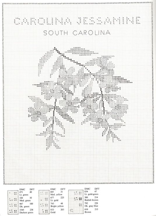 Gallery.ru / Фото #78 - U.S.State Flowers in Counted Cross-Stitch - Orlanda