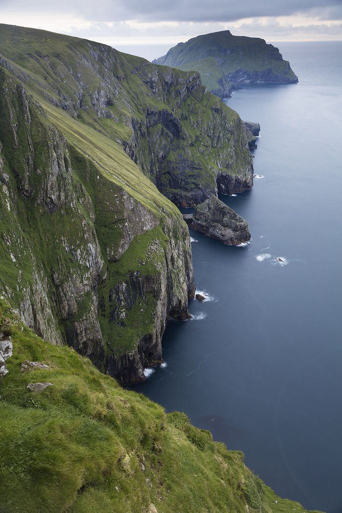Sea cliffs at Hirta, St Kilda, Outer Hebrides, Scotland by peterspencer49