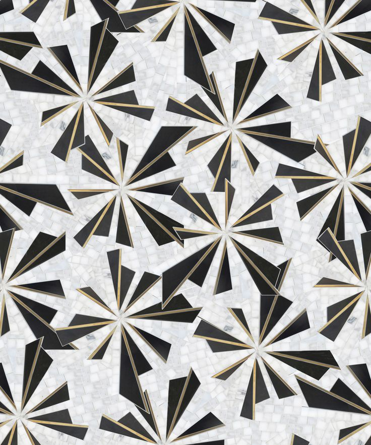 Available at Versatile Inc.   Kenzo   Shown in Brass, Calacatta Oro & Gunmetal   http://www.versatileinc.ca/coll_mosaique_surface.html   #versatileinc #marble