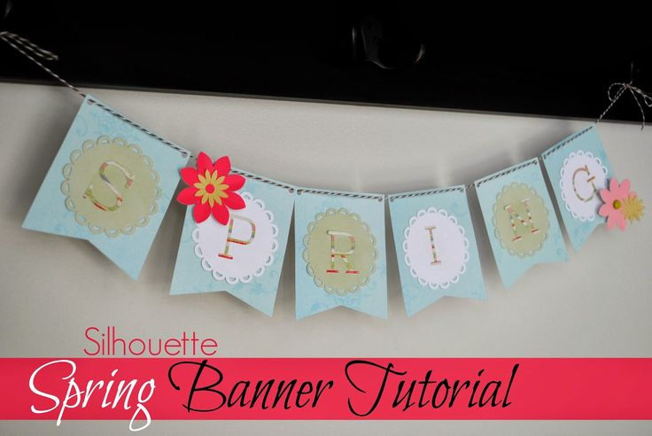 'Spring' and Flowers Paper Banner ~ Silhouette School