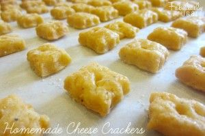 Did you know it is pretty easy to make your own crackers? Here's a fun recipe for cheesy crackers! The kids will think it is fun to make and eat their own crackers.