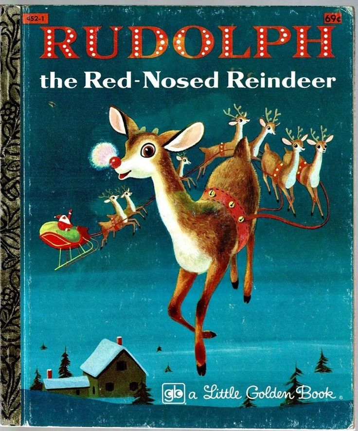 Vintage Little Golden Book ~ RUDOLPH THE RED-NOSED REINDEER ~ Richard Scarry