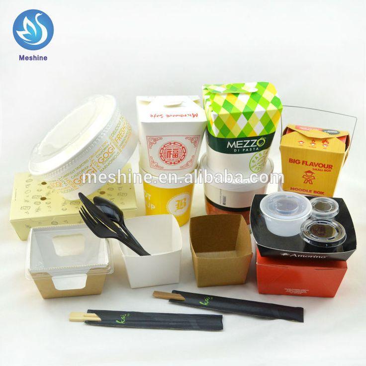 di carta usa e getta veloce casella imballaggi alimentari