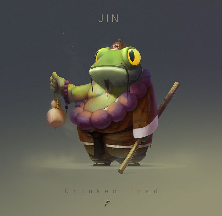 JIN. the drunken toad. by jsuursoo.deviantart.com on @DeviantArt ★ || CHARACTER DESIGN REFERENCES (www.facebook.com/CharacterDesignReferences & pinterest.com/characterdesigh) • Love Character Design? Join the Character Design Challenge (link→ www.facebook.com/groups/CharacterDesignChallenge) Share your unique vision of a theme every month, promote your art and make new friends in a community of over 20.000 artists! || ★