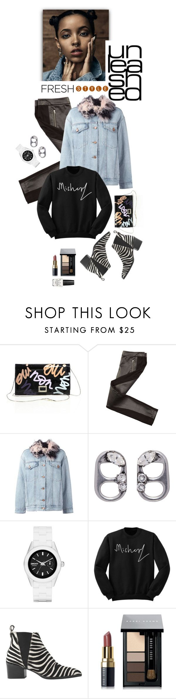 """FRESH STYLE"" by shortyluv718 ❤ liked on Polyvore featuring Roger Vivier, Armani Exchange, Alexander Wang, Marc Jacobs, DKNY, Whistles, Bobbi Brown Cosmetics, OPI, booties and animalprints"
