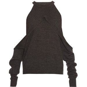 Dion Lee Release cut-out shoulder wool sweater