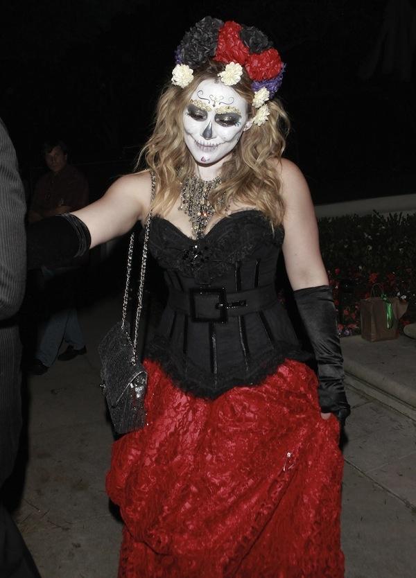 Girls Sugar Skull Swee... Hilary Duff Costume Halloween