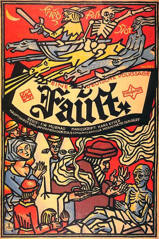 Poster for F.W. Murnau's Faust (1926)
