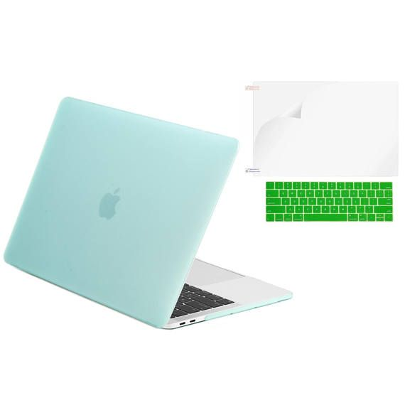 Perfect fit for Newest MacBook Pro 13-Inch Model: A1706 with Touch Bar, Release 2017 / 2016 (NOT Compatible with MacBook Pro 13 BEFORE 2016 Version)  Please kindly check the model number A1xxx on the back of the laptop BEFORE your purchase. No cut out design. Apple logo CANT shine through the case  Ultra slim design that is light in weight, durable and has long lasting protection for your laptop  Snap on design for easy fit while having access to all your buttons and ports  Come with 1 m...