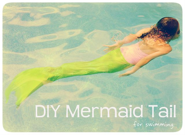 DIY Mermaid Tail for swim time fun! I would have done anything for something like this as a kid!