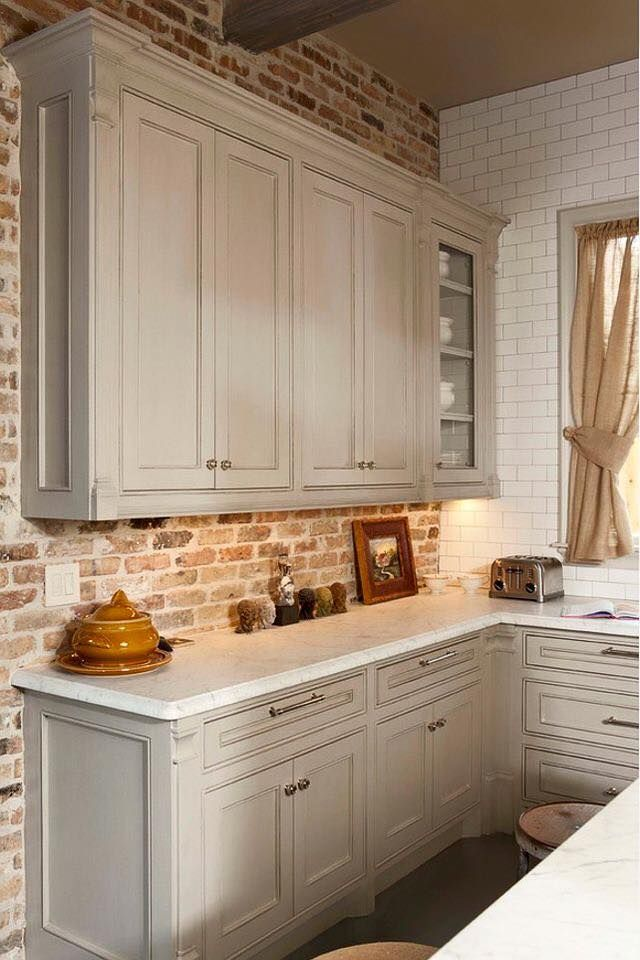 Best 25+ Kitchen Brick Ideas On Pinterest | Exposed Brick Kitchen, DIY  Interior Archway And Kitchen Island Up Against Wall