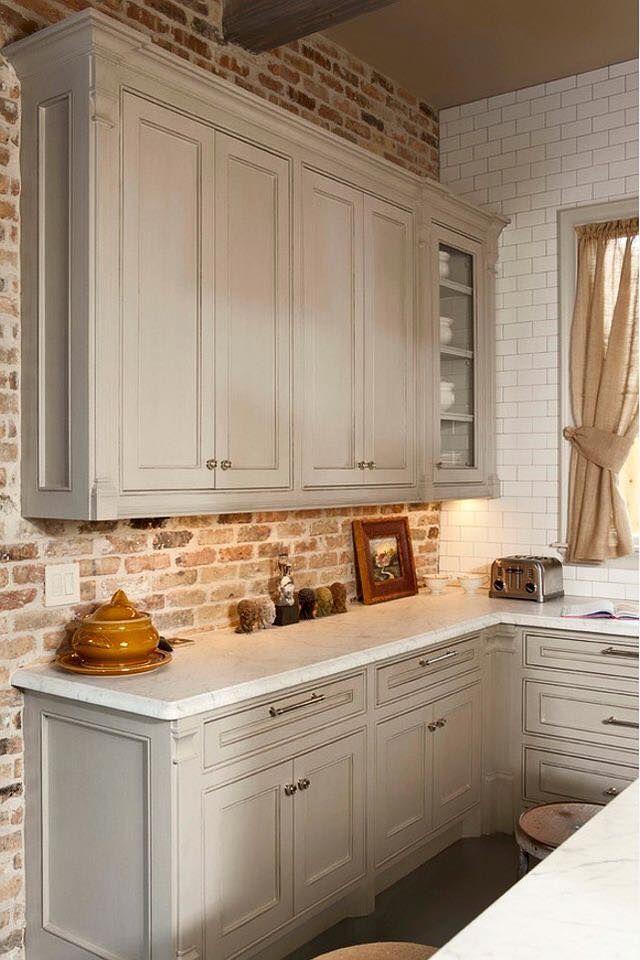 Kitchen Backsplash Brick Look best 10+ kitchen brick ideas on pinterest | exposed brick kitchen
