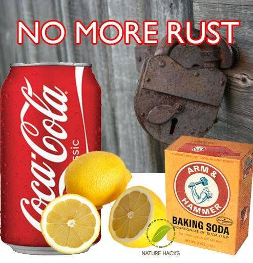 get rid of rust baking soda uses how to remove rust cleaning cleaning hacks. Black Bedroom Furniture Sets. Home Design Ideas