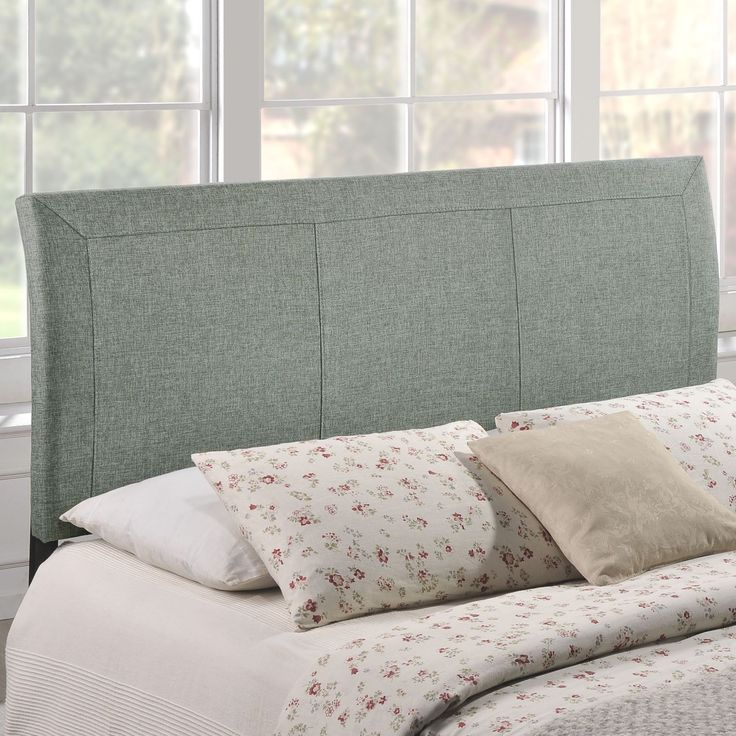 headboard queen bed amazon contemporary size gray grey tall upholstered headboards for beds pallet plans