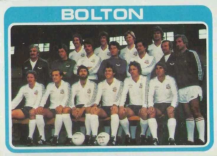 Bolton Wanderers team group in 1979.