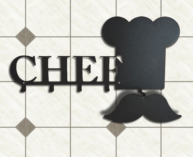 """My kitchen says that I'm a Chef"" #kitchen #chef #mustache #home #wall #hook #hanger #lamidea"