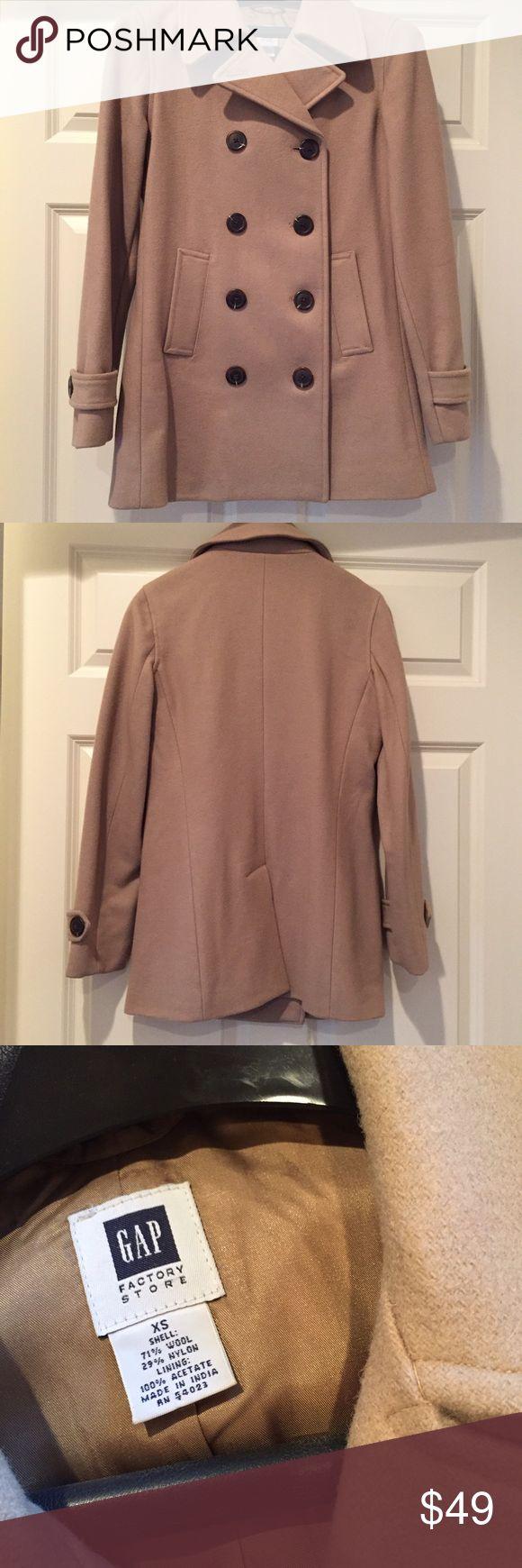 Gap camel pea coat Gap camel color pea coat. Lined. Excellent condition. GAP Jackets & Coats Pea Coats