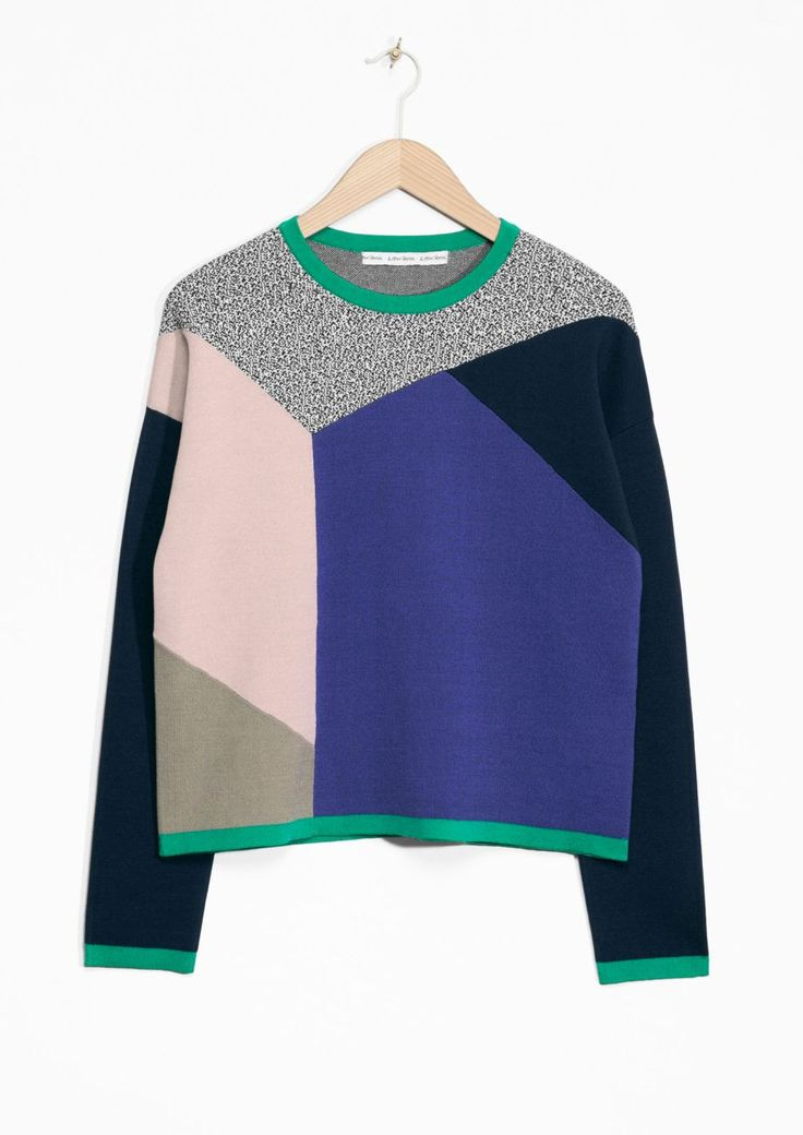 Colour Blocked Sweater   Multi colour