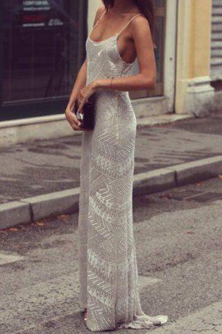 Sexy Spaghetti Strap Sleeveless Printed Women's Maxi Dress Maxi Dresses | RoseGal.com Mobile