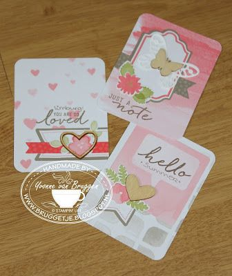 Yvonne is Stampin' & Scrapping: Stampin' Up! Project Life Cards made with the Watercolor Wishes kit #stampinup
